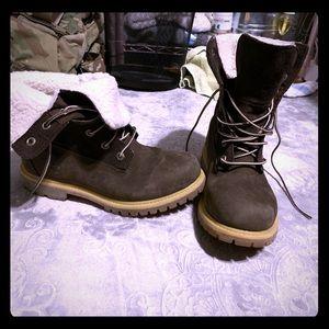 Timberland fleece teddy boots